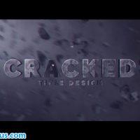 پروژه افتر افکت متن سه بعدی ترک خورده – Cracked Title Design