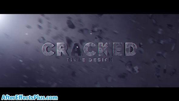 پروژه افتر افکت متن سه بعدی ترک خورده - Cracked Title Design