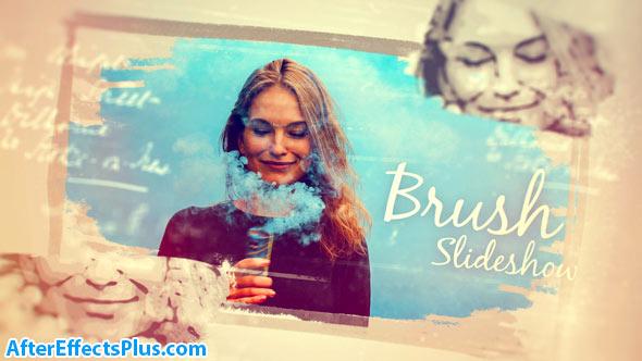 پروژه افتر افکت اسلایدشو با افکت براش دستی - Hand Drawn Photo Brush Slideshow