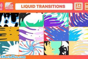 پروژه افتر افکت پکیج ترانزیشن مایع کارتونی – Liquid Transitions Pack
