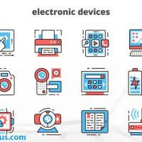 پروژه افتر افکت آیکون متحرک دستگاه های الکترونیکی