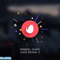 پروژه افتر افکت نمایش لوگو مینیمال با شکل هندسی – Minimal Shape Logo Reveal 2