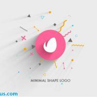 پروژه افتر افکت نمایش لوگو فلت و مینیمال – Minimal Shape Logo Reveal