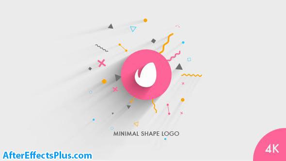 پروژه افتر افکت نمایش لوگو فلت و مینیمال - Minimal Shape Logo Reveal