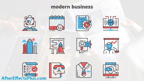 پروژه افتر افکت آیکون متحرک برای کسب و کار