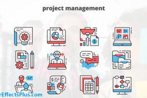 پروژه افتر افکت آیکون متحرک برای مدیریت پروژه