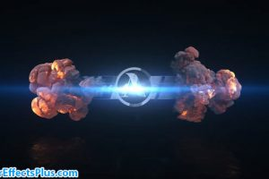پروژه افتر افکت نمایش لوگو انفجار کوتاه – Short Explosion Logo