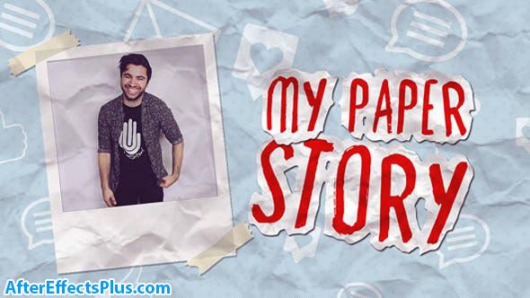 پروژه افتر افکت استاپ موشن کاغذی - My Paper Story