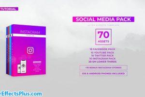 پروژه افتر افکت پکیج شبکه های اجتماعی – Social Media Pack