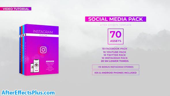 پروژه افتر افکت پکیج شبکه های اجتماعی