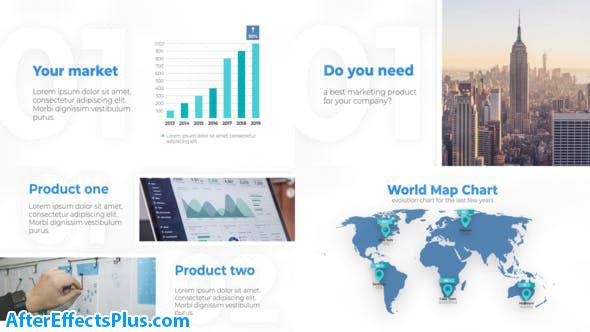 پروژه افتر افکت قالب پرزنتیشن کسب و کار - Your Business Corporate Presentation