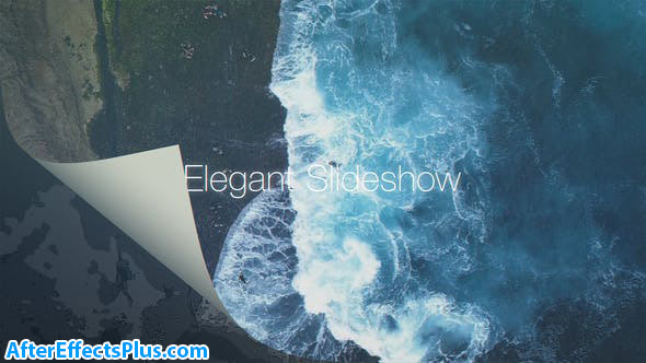 پروژه افتر افکت اسلایدشو با افکت ورق زدن کاغذ - Elegant Slideshow