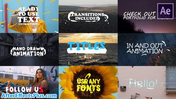 پروژه افتر افکت متن دو بعدی انیمیشنی - 2D Lyric Titles