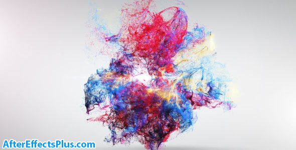 پروژه افتر افکت نمایش لوگو انفجار رنگ - Colorful Explosion Logo Reveal