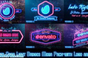 پروژه افتر افکت نمایش آرم و لوگو با افکت نئون – Neon Lights Badges
