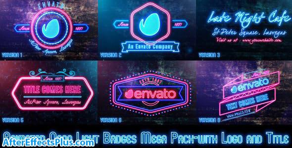 پروژه افتر افکت نمایش آرم و لوگو با افکت نئون - Neon Lights Badges