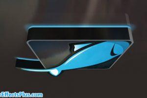 پروژه افتر افکت نمایش لوگو براق سه بعدی – 3D Glossy Logo