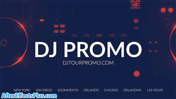 پروژه افتر افکت تیزر تبلیغاتی دی جی - DJ Promo