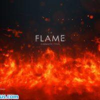 پروژه افتر افکت نمایش متن در شعله آتش – FLAME Cinematic Titles
