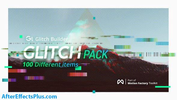 پروژه افتر افکت پکیج افکت نویز - Glitch Pro Essential Glitch Effects Pack