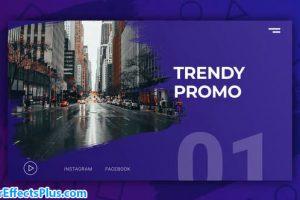 پروژه افتر افکت اینترو و تیزر تبلیغاتی مدرن – Trendy Modern Promo