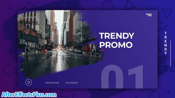 پروژه افتر افکت اینترو و تیزر تبلیغاتی مدرن - Trendy Modern Promo