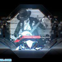 پروژه افتر افکت اکولایزر و کاور موزیک کریستال – Crystal Music Cover