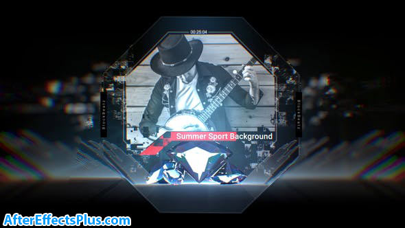 پروژه افتر افکت اکولایزر و کاور موزیک کریستال - Crystal Music Cover