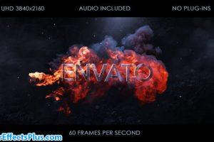پروژه افتر افکت نمایش لوگو بین آتش و دود – Fire Logo Intro