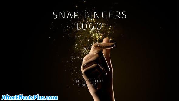 پروژه افتر افکت نمایش لوگو با بشکن زدن - Snap Fingers Logo