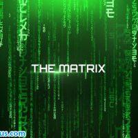 پروژه افتر افکت نمایش متن با افکت ماتریکس – The Matrix Cinematic Titles