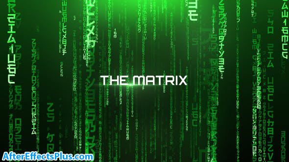 پروژه افتر افکت نمایش متن با افکت ماتریکس - The Matrix Cinematic Titles