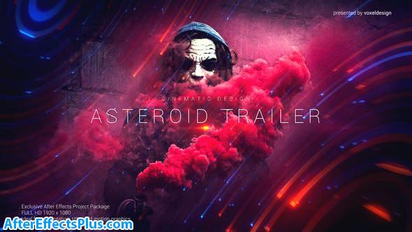 پروژه افتر افکت تریلر و اسلایدشو با افکت سیارک - Asteroid Cinematic Trailer