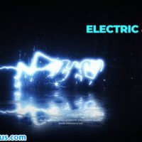 پروژه افتر افکت نمایش لوگو الکتریکی با افکت نئون – Electric and Neon Logo Reveal