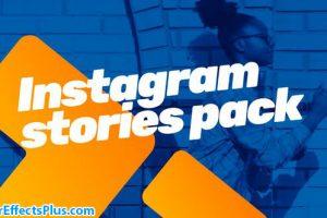 پروژه افتر افکت استوری اینستاگرام با عنوان متحرک – Instagram bundle Motion Titles library