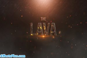 پروژه افتر افکت متن تریلر با افکت گدازه آتشفشان – Lava Trailer Titles