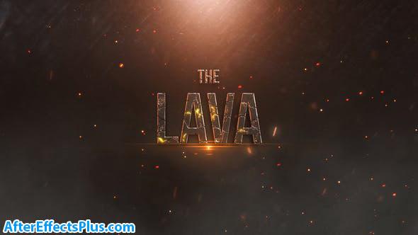پروژه افتر افکت متن تریلر با افکت گدازه آتشفشان - Lava Trailer Titles