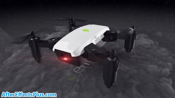 پروژه افتر افکت نمایش لوگو با پهپاد و کواد کوپتر - Quadcopter Drone Logo