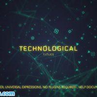 پروژه افتر افکت نمایش عنوان با موضوع تکنولوژی – Technological Titles