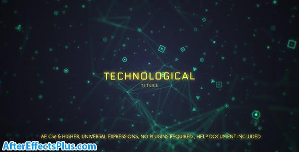 پروژه افتر افکت نمایش عنوان با موضوع تکنولوژی - Technological Titles