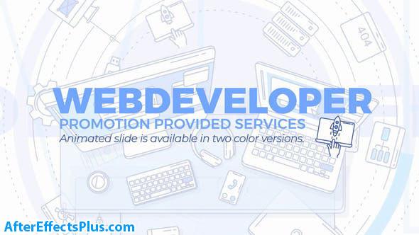 پروژه افتر افکت تیزر توسعه دهنده وب - Web Developer Promo