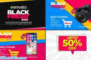 پروژه افتر افکت تیزر تبلیغاتی جمعه سیاه – Black Friday Sale Promo