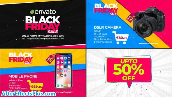 پروژه افتر افکت تیزر تبلیغاتی جمعه سیاه - Black Friday Sale Promo