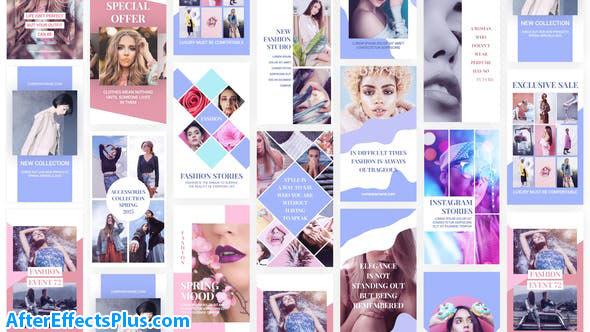 پروژه افتر افکت استوری مد و فشیون اینستاگرام - Fashion Instagram Stories