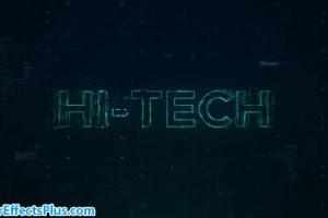 پروژه افتر افکت نمایش لوگو و اینترو تکنولوژی – Hi-Tech Opener