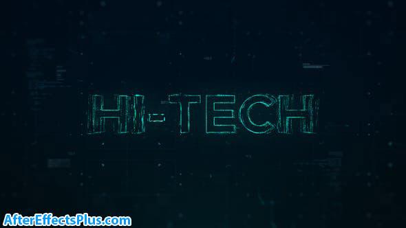 پروژه افتر افکت نمایش لوگو و اینترو تکنولوژی - Hi-Tech Opener