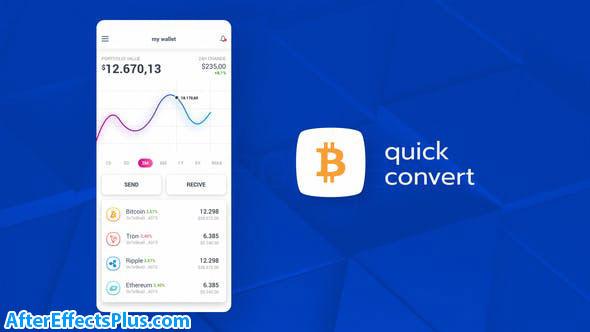 پروژه افتر افکت تیزر تبلیغاتی اپلیکیشن ارز دیجیتال - Cryptocurrency App Promo