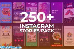 پروژه افتر افکت پکیج 250 استوری اینستاگرام – Instagram Stories