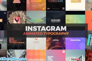 پروژه افتر افکت تایپوگرافی اینستاگرام – Instagram Typography