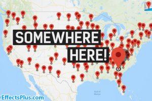 پروژه افتر افکت ابزار کامل ساخت نقشه سفر – The Complete World Travel Map ToolKit